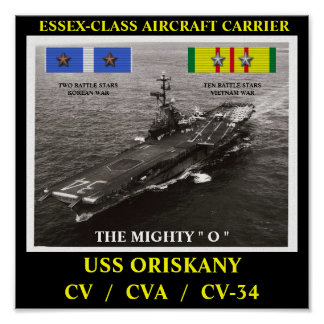 AFFISCH FÖR USS ORISKANY (CV/CVA/CV-34)