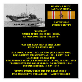 AFFISCH FÖR USS OSAGE (LSV-3)