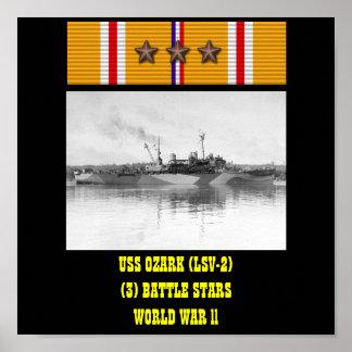 AFFISCH FÖR USS OZARK (LSV-2)