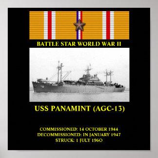 AFFISCH FÖR USS PANAMINT (AGC-13)