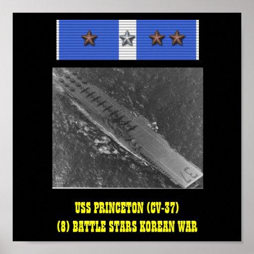 AFFISCH FÖR USS PRINCETON (CV-37)