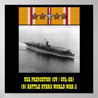 AFFISCH FÖR USS PRINCETON (CV/CVL-23)