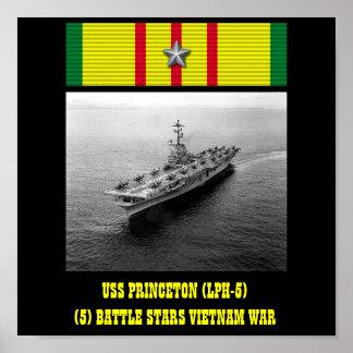 AFFISCH FÖR USS PRINCETON (LPH-5)