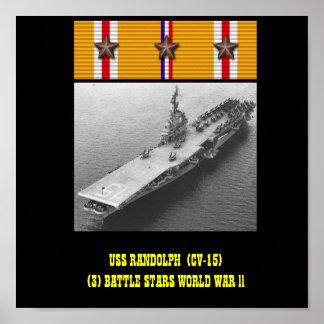 AFFISCH FÖR USS RANDOLPH (CV-15)