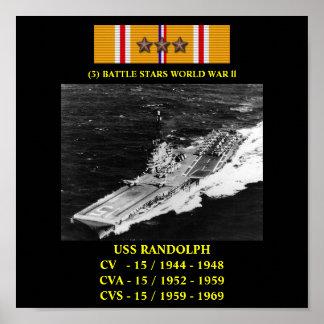 AFFISCH FÖR USS RANDOLPH (CV/CVA/CVS-15)