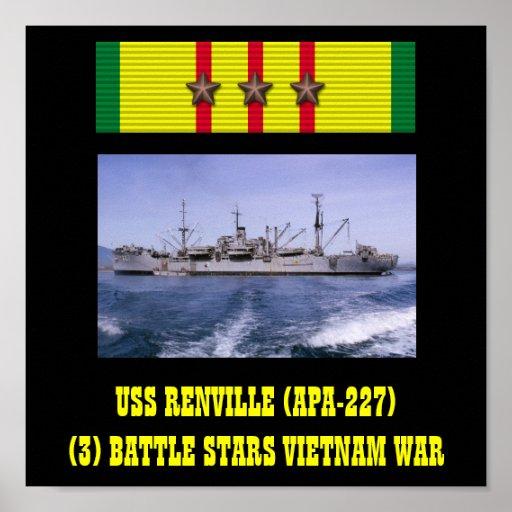 AFFISCH FÖR USS RENVILLE (APA-227)