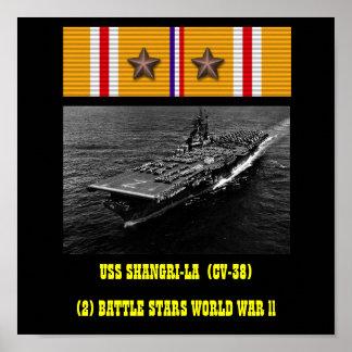 AFFISCH FÖR USS SHANGRI-LA CV-38