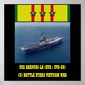 AFFISCH FÖR USS SHANGRI-LA CVA CVS-38