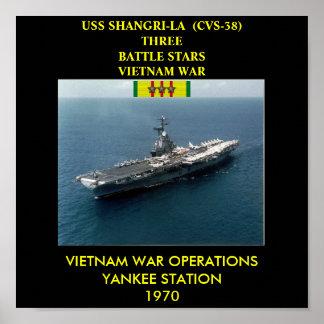 AFFISCH FÖR USS SHANGRI-LA CVS-38