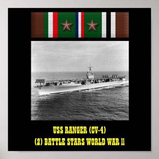AFFISCH FÖR USS-SKOGSVAKTARE (CV-4)