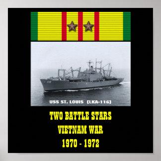 AFFISCH FÖR USS ST LOUIS (LKA-116)
