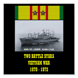 AFFISCH FÖR USS ST LOUIS LKA-116