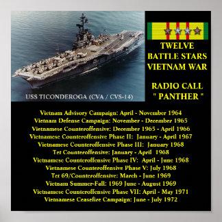 AFFISCH FÖR USS TICONDEROGA (CVA/CVS-14   )