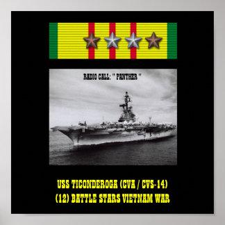 AFFISCH FÖR USS TICONDEROGA CVA CVS-14