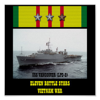 AFFISCH FÖR USS VANCOUVER (LPD-2)