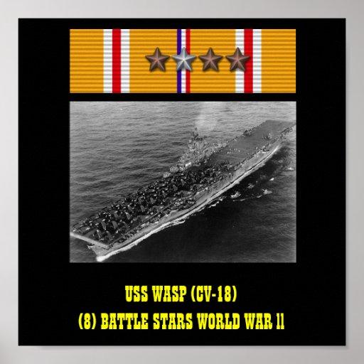 AFFISCH FÖR USS-WASP (CV-18)