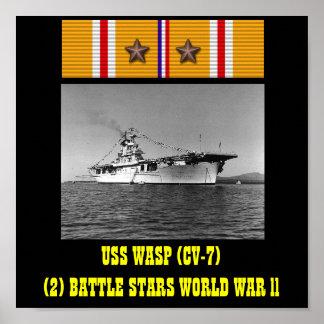AFFISCH FÖR USS-WASP (CV-7)
