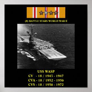 AFFISCH FÖR USS-WASP (CV/CVA/CVS-18)
