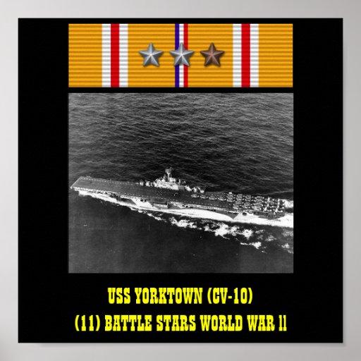 AFFISCH FÖR USS YORKTOWN (CV-10)