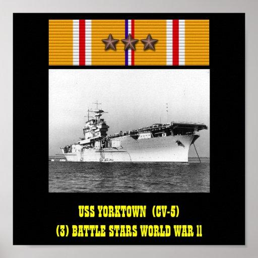 AFFISCH FÖR USS YORKTOWN (CV-5)