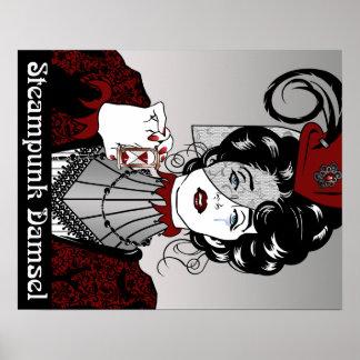 Affisch för Victorian för Steampunk ung ogift