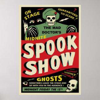 Affisch för vintagespökeShow - den tokiga doktorn