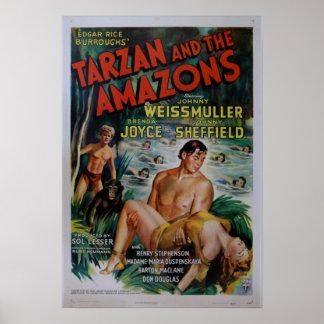 Affisch för vintageTarzan film
