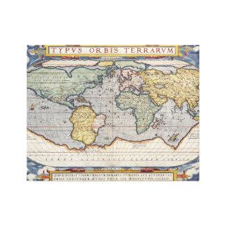 Affisch för vintagevärldskarta canvastryck