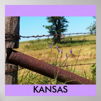 Affisch/Kansas/flintabackar