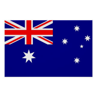 Affisch med flagga av Australien