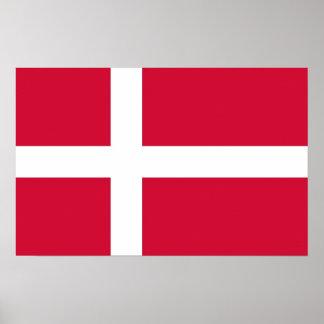 Affisch med flagga av Danmark Poster