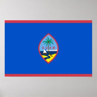 Affisch med flagga av Guam, USA Poster