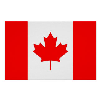 Affisch med flagga av Kanada