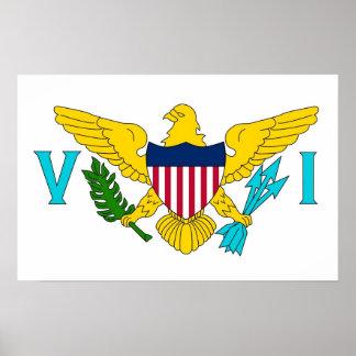 Affisch med flagga av Virgin Islands, USA