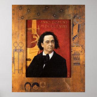Affisch med Gustave Klimt målning