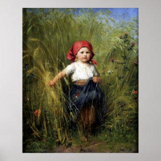 Affisch med Heinrich Hirt målning