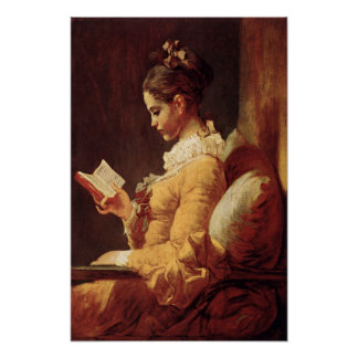 Affisch med Jean-Honore Fragonard målning
