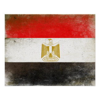 Affisch med kall flagga från egypten