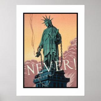 Affisch med propaganda för amerikan WWII