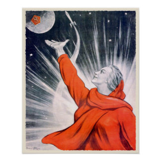 Affisch med trycket för vintageUSSR propaganda Poster