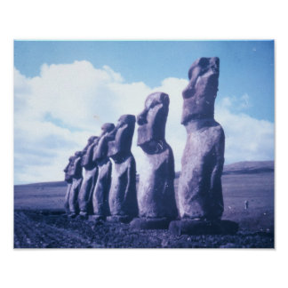 Affisch-Påsk ö, Chile Poster