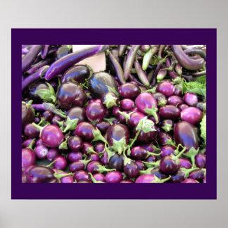 Affisch - purpurfärgade grönsaker