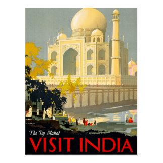 Affisch Restor för Taj Mahal besökIndien vintage Vykort