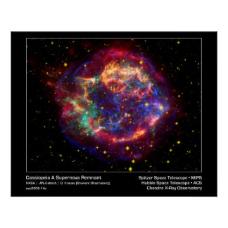 Affisch/tryck: Supernova - Cassiopeiautrymme Poster