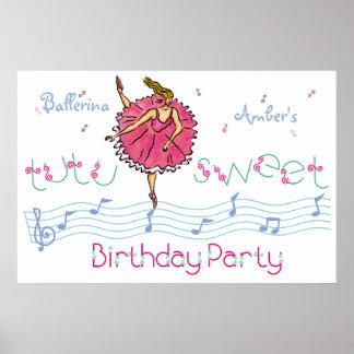 AffischBallerinafödelsedagsfest Affisch