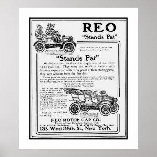 Affischbilen REO bilar annonsen 1906 Poster