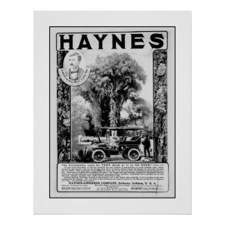 AffischbilHaynes Apperson annons Poster