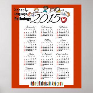 Affischen 2015 för kalender för talspråkpatologi posters