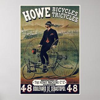 Affischer/tryck: Howe cyklar trehjulingar Poster