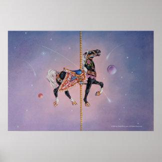 Affischer tryck - Petaluma karusellhäst 2